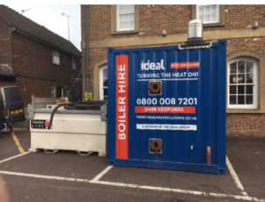 Kings Hotel - 500kw Temporary Boiler Hire